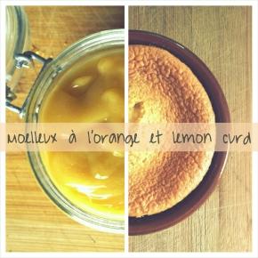Moelleux à l'orange & lemon curd(végétarien)