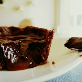 Tarte chocolat-caramel beurre salé(végétarien)