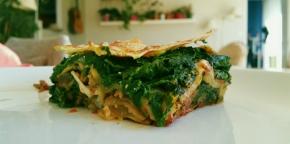 Lasagnes végétariennes aux 2 sauces : épinards-chèvre et bolognaise(végétarien)