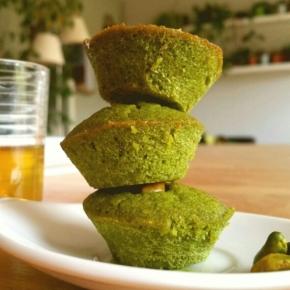 Financiers Matcha-Pistache-Poivre-Cardamome (végétarien)