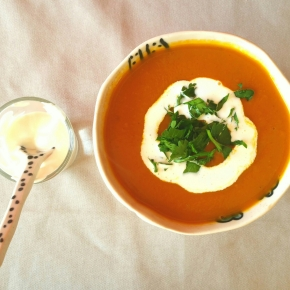 Soupe de potimarron à l'indienne (vegan)