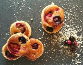 Mini tartelettes Amandine aux fruits rouges(végétarien)