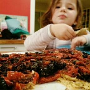 Tarte tatin tomates cerise/olives à la grecque/tomates séchées(végétarien)