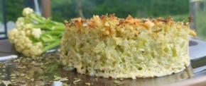 Gratin de chou-fleur léger à la fêta et à l'origan(végétarien)
