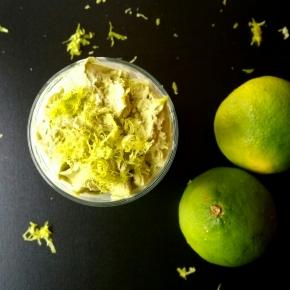 Mousse glacée au citron vert et thé matcha(végétarien)