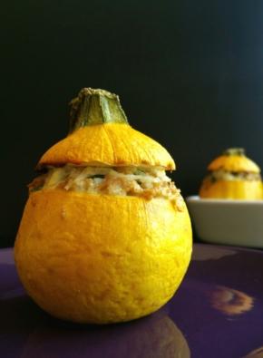 Courgettes farcies légères, riches en protéines et végétariennes!