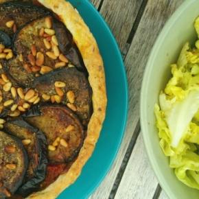 Tarte salée vegan : aubergines/pignons (et autres petitssecrets)