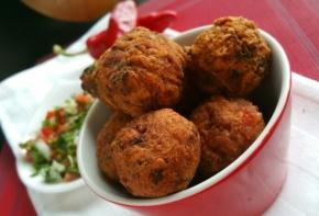 Acras de courge & sauce Chien(vegan)