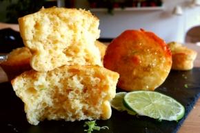 Muffins légers à la ricotta et citron vert (sans beurre)(végétarien)