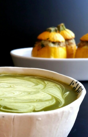 Velouté de courgettes au curry (vegan)