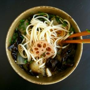 Soupe miso à la racine de lotus(vegan)