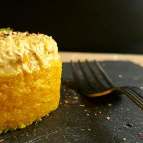 Polenta aux carottes & son chutney coco(vegan)