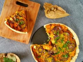 Tarte épicée aux carottes(vegan)