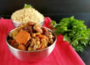 Tajine de légumes d'automne aux fruits secs(vegan)