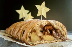 Noël gourmand & vegan : Tresse danoise aux pommes et auxnoix