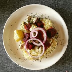 Noël Gourmand & Vegan : Salade de la Baltique (pommes de terres et betteraves auvinaigre)