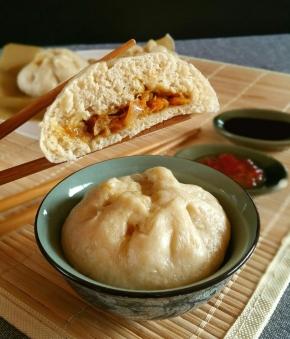 Noël Gourmand & vegan : Baos aux carottes et oignons confits, aux 5épices