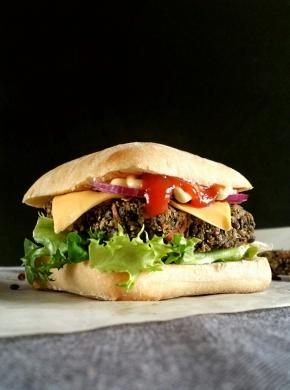 Burger vegan auxlentilles