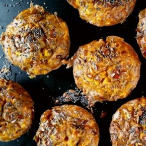 Mini-muffins pour l'apéritif : carottes, cumin et graines (vegan, sansgluten)