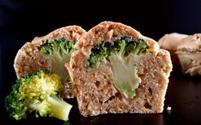 Muffins surprise au brocoli(vegan)