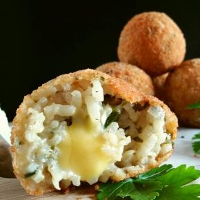 Arancini échalote-persil au parmesan végétal (vegan) (BatailleFood#33)