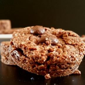 Sablés au chocolat et à l'okara (Anti-gaspi, sans gluten etvegan)