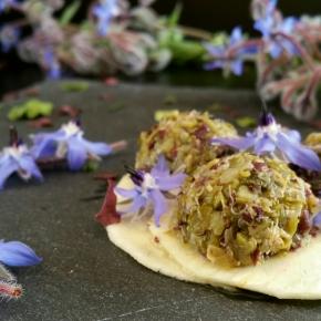 Tartare d'algues sur carpaccio de panais (vegan) (Bataille Food#34)